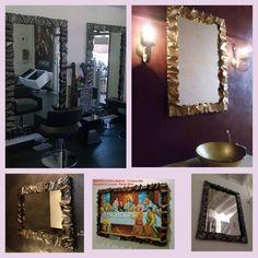 CORNICE design FERRO BATTUTO per Specchio o Foto con o senza LED . Realizzazioni Personalizzate . 850 Vanity, Led, Mirror, Frame, Furniture, Instagram, Design, Home Decor, Dressing Tables