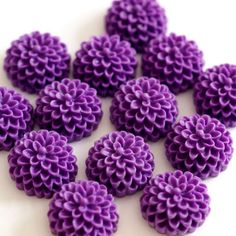 Purple Resin Buttons