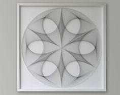 Abstract Zen Wall Art in Silver Gray 3D Sacred by FeniksArtDeco