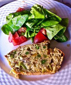asparagus cake salé cut