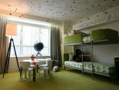 green and white rooms | Green and white in decorating childrens rooms Green and white in ...