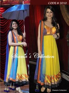 Couture Roll:   Anarkali  Email: shama.collection17@gmail.com OR   Message us: www.facebook.com/messages/Shama.Collection17  sonali bandre in this vibrant bright colours surely catches every eye  Like us for more updates https://www.facebook.com/Shama.Collection17