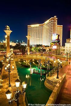 Stock Photos of the Venetian Resort Hotel and Casino on the Las Vegas strip, Las Vegas, Nevada by Alaska photographer Ron Niebrugge Las Vegas City, Las Vegas Strip, Las Vegas Nevada, Las Vegas Hotels, Excalibur Las Vegas, Vegas Vacation, Dream Vacations, Vacation Spots, Nova Orleans