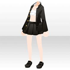 Chibi, Anime Outfits, Cool Outfits, Girl Fashion, Fashion Outfits, Fashion Design, Dibujos Cute, Anime Dress, Anime Hair