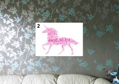 Unicorn - Magical Personalised A4 Word Art Print, FREE UK P&P.  Birthday. Special Occasion, Child/Adult Gift, - pinned by pin4etsy.com