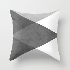 Buy black and white triangles Throw Pillow by her art. Worldwide shipping available at Society6.com. Just one of millions of high quality products available.