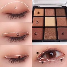 "History of eye makeup ""Eye care"", in other words, ""eye make-up"" happens to be a Korean Makeup Tips, Asian Eye Makeup, Korean Makeup Tutorials, Eye Makeup Steps, Natural Eye Makeup, Natural Eyes, Ulzzang Makeup Tutorial, No Make Up Make Up Look, Eye Make Up"
