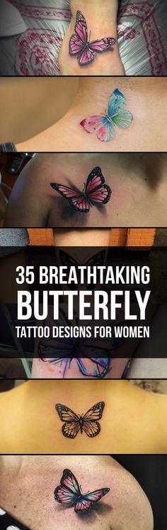 35 breathtaking butterfly tattoo designs for women butterfly Pretty Tattoos, Unique Tattoos, Beautiful Tattoos, New Tattoos, Body Art Tattoos, Sleeve Tattoos, Tatoos, Modern Tattoo Designs, Tattoo Designs For Women
