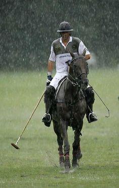 Polo - Adolfo Cambiaso in the rain
