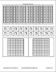 Piskopos Blackboard: Bir İlköğretim blog: Yazdırılabilir Taban Ten Blokları