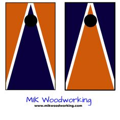 University of Virginia Cornhole Set by MIK Woodworking
