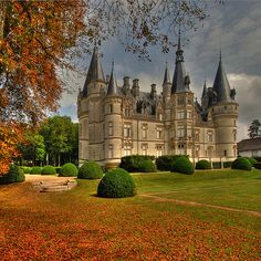 ARCHITECTURE – another great example of beautiful design. Chateau du Nozet, Burgundy, France Does a chateau can pass as a castle? Beautiful Castles, Beautiful Buildings, Beautiful Places, Places Around The World, Around The Worlds, Photo Chateau, Places To Travel, Places To Go, French Castles