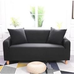 Sofa Cover for Living Room Elasticity Non-slip Couch Slipcover Universal Spandex Case for Stretch Sofa Cover Seater How To Clean Furniture, New Furniture, Furniture Online, Luxury Furniture, Clean Couch, Sofa Protector, Simple Sofa, Old Sofa, Types Of Sofas