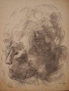 "Juan Martín  ""Mujer"" Tinta china sobre papel 35 X 27 cms. Año 1979  http://www.portondesanpedro.com/ver-producto.php?id=8924"
