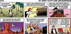 """Zits comic: the long journey west - """"all I said was 'I'm driving to the store to rent a DVD'!"""""""