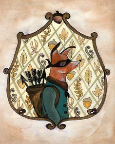 Arthur Fox - ORIGINAL Bandit Fox Painting.