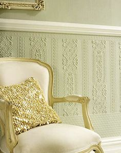 Doug Dado - Paintable Embossed Walls [PAINT-6704] : Designer Wallcoverings, Specialty Wallpaper for Home or Office