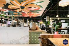 HEKKER  Interieurbouw - Interieurbouw Café Flor op Schiphol Airport - TOOKO – Inspiratie voor een exclusieve werkomgeving