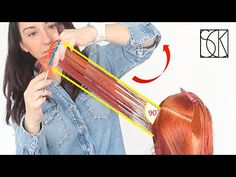 Long layers are perfect for thick and wavy hair. This is one of the most simple and classics ways to cut layers on long hair. Hair Cutting Videos, Hair Cutting Techniques, Hair Videos, Curly Hair Cuts, Medium Hair Cuts, Long Hair Cuts, Wavy Layered Haircuts, Damp Hair Styles, Long Hair Styles