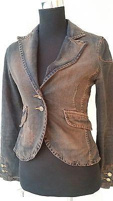 Sandro Ferrone roma made in Italy woman jeans jacket, size 42, S, beautiful