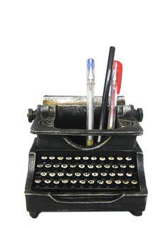 A Loja do Gato Preto | Portacanetas Máquina Escrever #alojadogatopreto