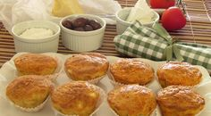 Cheese & olive muffins