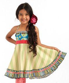 Look at this #zulilyfind! Limeade Ellie Roundabout Dress- Toddler & Girls by Matilda Jane Clothing #zulilyfinds
