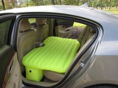 Travel mattress for back seat.  love this idea for camping and drive ins