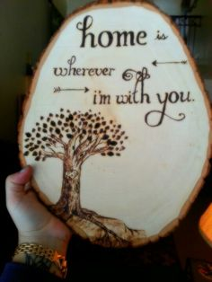 Made this wood burned piece for my brother and sister-in-law as a wedding gift!!