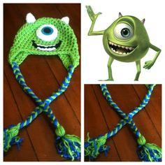 Crochet Mike Wazowski Beanie