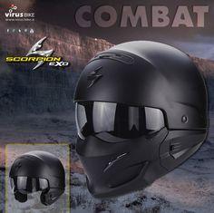 #casco #scorpion #Exo #Combat #jet #integrale #modulare #caferacer #custom #naked #streetfighter #stunt