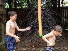 Pool Noodle Sprinkler for Summer Fun | Ziggity Zoom