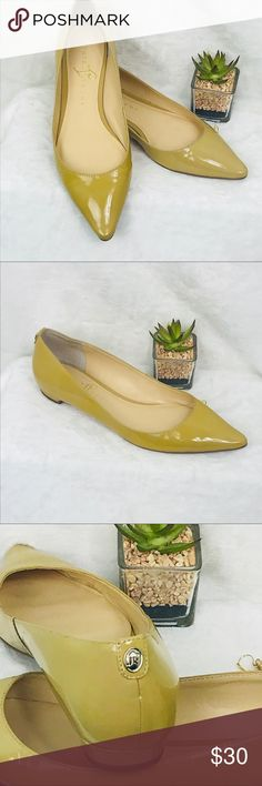 Ivanka Trump Flats Classy Ivanka Trump patent leather Flats. Pointed toe with half inch heel. Excellent preowned condition. Beautiful pearlized color can be worn Spring through Autumn.  02010IT Ivanka Trump Shoes Flats & Loafers
