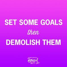 Demolish your goals <3 #fitness #fitspo #motivation