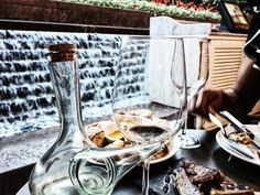 Spanish food and wine at Ibérica La Terraza, Cabot Square Al Fresco Dining, Spanish Food, Wine Recipes, Tapas, Drink, Beverage, Drinking, Hispanic Kitchen