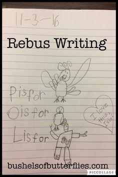 Kindergarten Journal Writing, Rebus Sentences, Teaching Kids How to Write