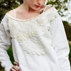 Lots of sewing tips---restyled sweatshirt doilies d.i.y. tutorial