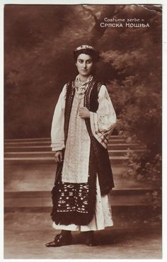 Serbia National Costume Old Post Card 1909   eBay