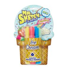 Mr. Sketch® Scented Markers are bright and vivid, each featuring their own unique 'Ice Cream' scent.