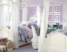 I love the Pottery Barn Kids Lavender and Teal (Lavender Brooklyn) on potterybarnkids.com