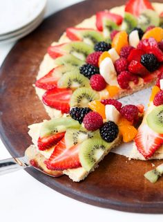 Oat Crust Fruit Pizza Recipe