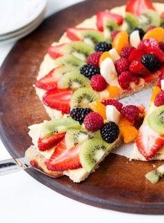 Oat Crust Fruit Pizza Recipe