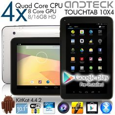 TouchTab 10.1 in Quad Core 16GB 4.4.2 KitKat Google Android Tablet PC, Wifi, HDMI, Bluetooth [2014] (White 10.1-inch) Andteck,http://www.amazon.com/dp/B00IWNOD9G/ref=cm_sw_r_pi_dp_PCdutb03D5P89SR6