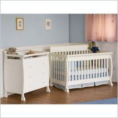DaVinci Kalani 4in1 Convertible Wood Crib Nursery Set w Toddler Rail in White * Click image to review more details.