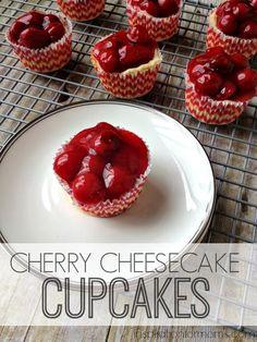 Cherry Cheesecake Cupcakes - these look amazing!