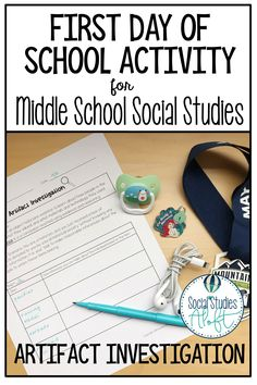This is an engaging, fun activity for back to school in your or grade Social Studies classroom. Students will learn about the importance of artifacts in the study of history, while also working in cooperative groups and using critical thinking skills. 7th Grade Social Studies, Social Studies Projects, Social Studies Lesson Plans, Kindergarten Social Studies, Social Studies Notebook, Social Studies Worksheets, Social Studies Classroom, Social Studies Activities, History Classroom
