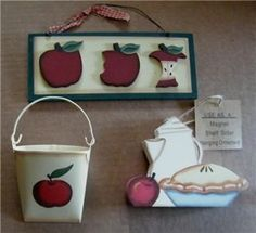 kitchen apple collection | Apple Collection Primitive Country Kitchen Decor Sign | eBay