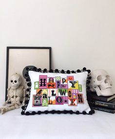 Happy Halloween modern counted cross stitch by SatsumaStreet