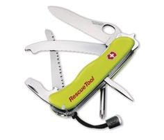 Victorinox Swiss Army Rescue Tool by Victorinox. $65.62. Amazon.com                The Victorinox Rescue Tool was developed and perfected in conjunction with emergency medical and rescue services in a five-year project. All parts have been subject to stringent tests, particularly the new window breaker and disc saw tools. The Rescue Tool includes the most essential functions for freeing a person from a disabled vehicle, including a rounded belt cutter which can be used to s...