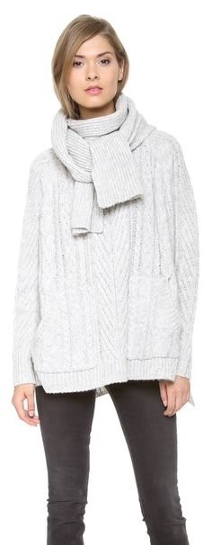 Sweet Southern Prep: Great sweater with a detachable scarf